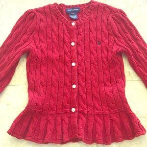 Ralph Laureen Cardigan 100% cotton